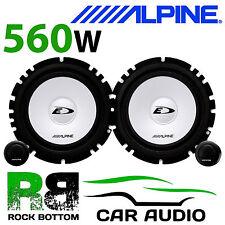 """ALPINE ALFA ROMEO 156 1997-2005 6.5"""" 16cm 560W Car Component Rear Door Speakers"""