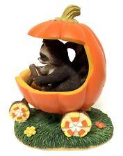 Charming Tails Figurine Jack O' Lantern Jalopy Pumpkin Reginald Raccoon Autumn