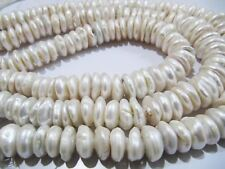 Natural Genuine White Pearl Coin Shape Beads,, Size 14 to 20mm Graduated Beads