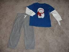 Carter's Toddler Boys Polar Bear Pants Top Set Outfit Size 4T 4 NWT NEW Clothes