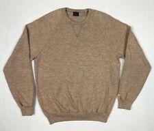 Vtg 70s/80s Wrangler Mens Crewneck Sweatshirt Sz Large Heather Beige Raglan A6