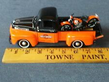 1948 FORD F-1 PICKUP w/HARLEY-DAVIDSON MOTORCYCLE 1/25 DIECAST by MAISTO 2012