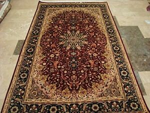 New Red Floral Exclusive Designed Area Rug Hand Knotted Wool Carpet (7.7 x 4.6)'