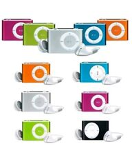 LETTORE MP3 IPOD NANO STYLE IDEA REGALO CUFFIE MEMORIA FINO A 2,4,8,16,32GB