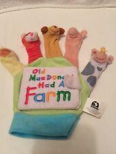 Old MacDonald Had A Farm  Hand Finger Puppet Board Book Classroom Teacher