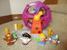 Fisher Price Jumbo Chunky Little People Ferris Wheel Clown Bear Eddie Sonja coin