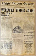 Novelty Poster Werewolf Attack Newspaper Article Halloween Decor 11x17 Customize