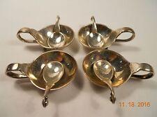 Georg Jensen Sterling Silver Salts with Spoons in Pattern 110