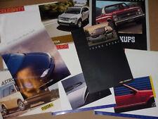 Lot of 8 Brochure CHEVROLET !!! Astro Van, Captiva, Pickups, Spectrum, Cavalier,