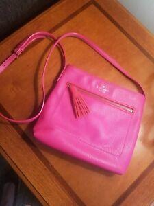 Kate Spade New York Pebbled Leather Shoulder/Crossbody Bag Hot Pink
