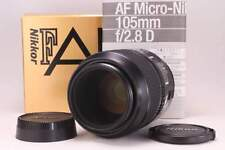 Excellent Nikon AF MICRO NIKKOR 105mm F2.8 D Lens w/Box from Japan