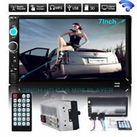 """7""""HD Double 2DIN Car Stereo MP5 Player Bluetooth Touchscreen MP3 FM Radio USB SD"""