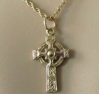 9ct Gold Necklace - 9ct Yellow Celtic Cross Pendant & Chain (5.9g)
