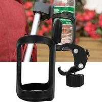 Universal Bicycle Baby Carriage Stroller Water Milk Bottle Cage Cup Holder Black