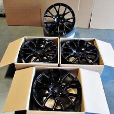 "Fits Jeep Grand Cherokee 5x127 22"" Hellcat Style Wheels Gloss Black Rims"