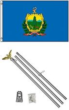 3x5 State of Vermont Flag Aluminum Pole Kit Set 3'x5'