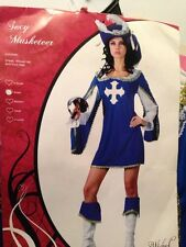 SEXY LADY WOMAN MUSKETEER  DRESS UP HALLOWEEN COSTUME X SMALL REDUCED TO CLEAR