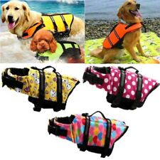 DOG LIFE JACKET- PET PFD SAFETY REFLECTIVE PROTECT VEST BUOYANCY FLOTATION AID