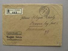 SWITZERLAND, R-cover 04-08-1930 to Romenia, oa bookletpane
