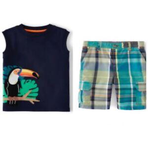 Gymboree Boys 2020 Safari Summer Toucan Tank Top Shirt Shorts Outfit Nwt Size 7