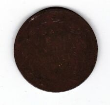 1862 British India Straits 1 One Cent Coin Queen Victoria C-282