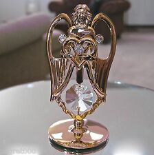 Angel Figurine Ornament, made with Swarovski Prisms, Rhinestones 24K Gp
