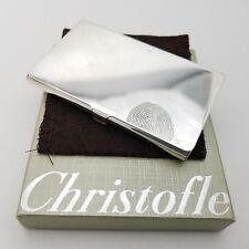 Christofle Sterling Silver 925 Fingerprint Carved Money Business Card Holder