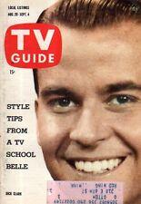 1959 TV Guide August 29 - Dick Clark; Jerry Lewis; Broderick Crawford; Ed Binns