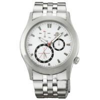 Orologio Multifunzione Uomo Orient CUT06001W0 Cassa Acciaio Quadrante Bianco Day