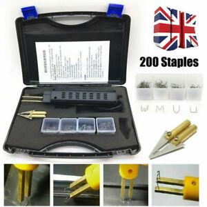 Plastic Repair Kit Hot Stapler Car Bumper Fender Fairing Welding Gun 200 Staples