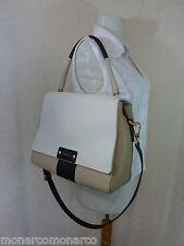 NWT FURLA White/Beige Pebbled Leather Penelope Shoulder Bag $598 - 741906