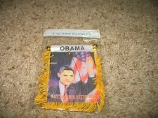 """Obama 44th President Mini Flag 4""""x6"""" Window Banner w/ suction cup"""