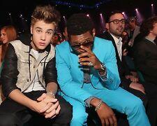 Usher and Justin Bieber 8x10 Photo #02