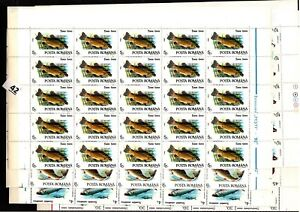 / 50X ROMANIA 1992 - MNH - FISH - SHEETS BENT