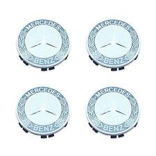For Mercedes R231 W205 Set of 4 Silver Center Hub Caps for Alloy Wheel Genuine