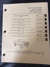TM 9-2320-289-20 M1008 Chevrolet CUCV Tech Manual