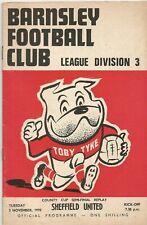 Barnsley v Sheffield United, 3 November 1970, County Cup Semi-Final Replay