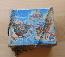 Vintage MATTEL Christmas Crank Music Box Toy