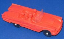 Vintage Tomte Nr 16 Ford Thunderbird, Plastic rubber model Car 1960s Norway