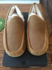 NIB UGG Men's ASCOT Mocassin Slippers Chestnut Size 10