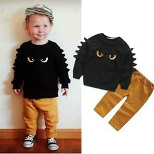 Monster Baby Boy Kid Long Sleeve Sweat Jumper Top & Pant Outfit Set Clothes