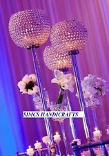 Crystal Globe Wedding Centerpieces Candelabras Pillar Holders Set of 10 Pieces