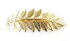Gold Laurel Leaf Barrette Hair Clip Roman Grecian Vintage Boho Olive Pin S94
