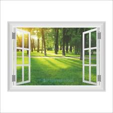 Trees Forest Sun Nature Living Room Wall Decal Poster 3D Art Stickers