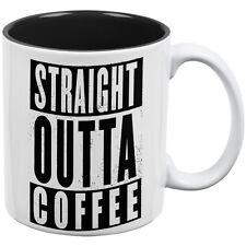 Straight Outta Coffee Funny White-Black All Over Coffee Funny Mug
