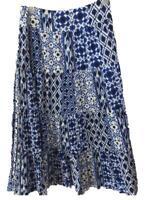 Jones NY Sport skirt Size 12 maxi long blue white cotton lined
