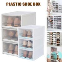 Push Drawer Type Shoe Box Shoe Organizer Drawer Transparent Plastic Storage