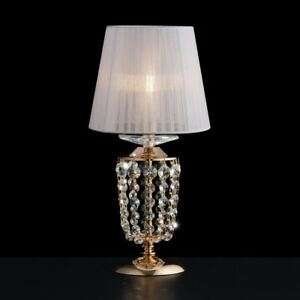 Bedside Lamp Lumetto Crystal Clear Modern Design Gold