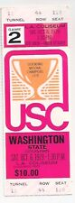 1979 Washington State vs USC Southern Cal FULL football ticket stub