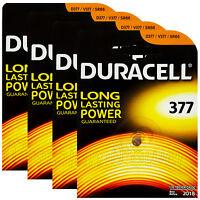 4 x Duracell Silver Oxide 377 1.5V batteries watch D377 V377 SR66 SR626SW D376